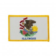 Eastern State Embroidered Patches - Illinois