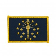 Eastern State Embroidered Patches - Indiana