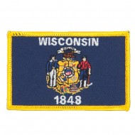 Eastern State Embroidered Patches - Wisconsin
