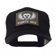 ETC Embroidered Military Patched Mesh Cap - Skull