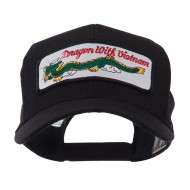 ETC Embroidered Military Patched Mesh Cap - Dragon
