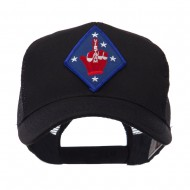 ETC Embroidered Military Patched Mesh Cap - Finger