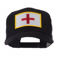 ETC Embroidered Military Patched Mesh Cap - Cross