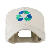 Environment Friendly Recycle Logo Embroidered Cap - Stone