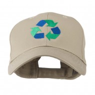 Environment Friendly Recycle Logo Embroidered Cap - Khaki