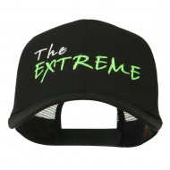 The Extreme Embroidered Trucker Cap - Black