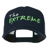 The Extreme Embroidered Trucker Cap - Navy