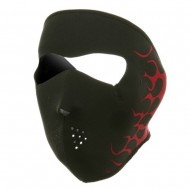 Neoprene Full Face Mask - Red Flames