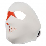 Neoprene Full Face Mask - Orange White