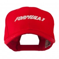Formula 1 for Racing Cars Embroidered Cap - Red
