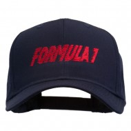 Formula 1 for Racing Cars Embroidered Cap - Navy