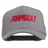Formula 1 for Racing Cars Embroidered Cap - Grey