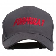 Formula 1 for Racing Cars Embroidered Cap - Charcoal