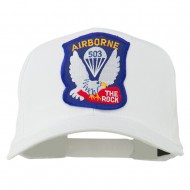 503rd Airborne Embroidered Patch Cap - White
