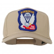 503rd Airborne Embroidered Patch Cap - Khaki