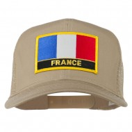 France Country Patched Mesh Back Cap - Khaki
