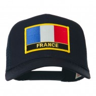 France Country Patched Mesh Back Cap - Navy