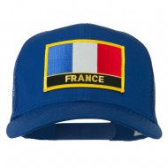 France Country Patched Mesh Back Cap - Royal