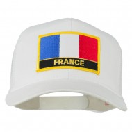 France Country Patched Mesh Back Cap - White