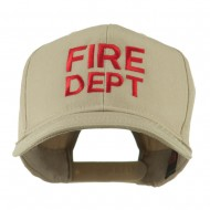 Fire Department Embroidered Cap - Khaki