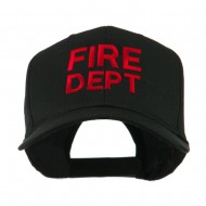 Fire Department Embroidered Cap - Black
