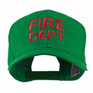 Fire Department Embroidered Cap - Kelly Green