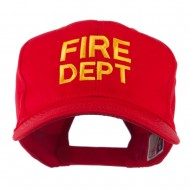 Fire Department Embroidered Cap - Red