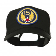Air Force Division Embroidered Military Patch Cap - 15th
