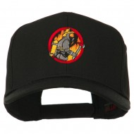 Firefighter Embroidered Pro Style Cap - Black