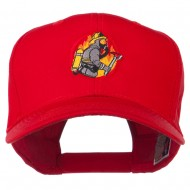 Firefighter Embroidered Pro Style Cap - Red