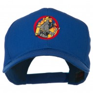 Firefighter Embroidered Pro Style Cap - Royal