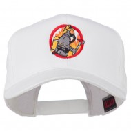Firefighter Embroidered Pro Style Cap - White