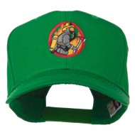 Firefighter Embroidered Pro Style Cap - Kelly