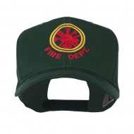 Fire Fighter Dept Symbol Embroidered Cap - Green