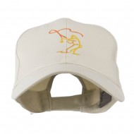 Fly Fishing Man Outline Embroidered Cap - Stone
