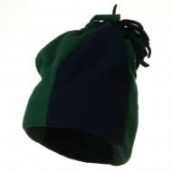 Fleece Winter Beanie Hat - Navy Forest