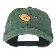 Fishing Spinner Embroidered Washed Cap - Dark Green