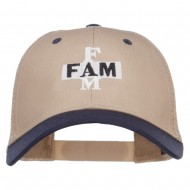 Fam Embroidered Two Tone Trucker Cap - Navy Khaki