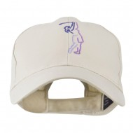 Female Golfer Outline Embroidered Cap - Stone