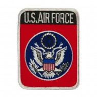 Air Force Other Shape Large Patch - Red USAF