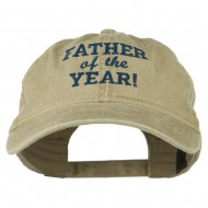 Father of the Year Embroidered Washed Cap - Khaki