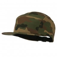 5 Panel Cotton Racer Cap - Camo