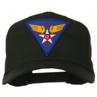 12th Air Force Division Patched Cap - Black