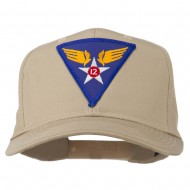 12th Air Force Division Patched Cap - Khaki