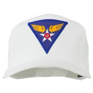12th Air Force Division Patched Cap - White