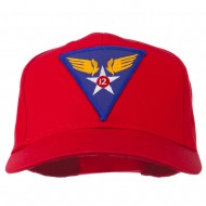 12th Air Force Division Patched Cap - Red
