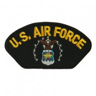 Air Force Fan Shape Military Large Patch - Yellow Air