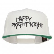 Happy Fright Night Embroidered Snapback Cap - Natural