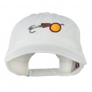 Fishing Walleye Lure Embroidered Washed Cap - White
