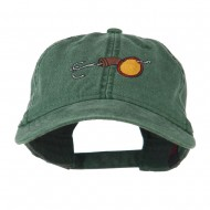 Fishing Walleye Lure Embroidered Washed Cap - Dark Green